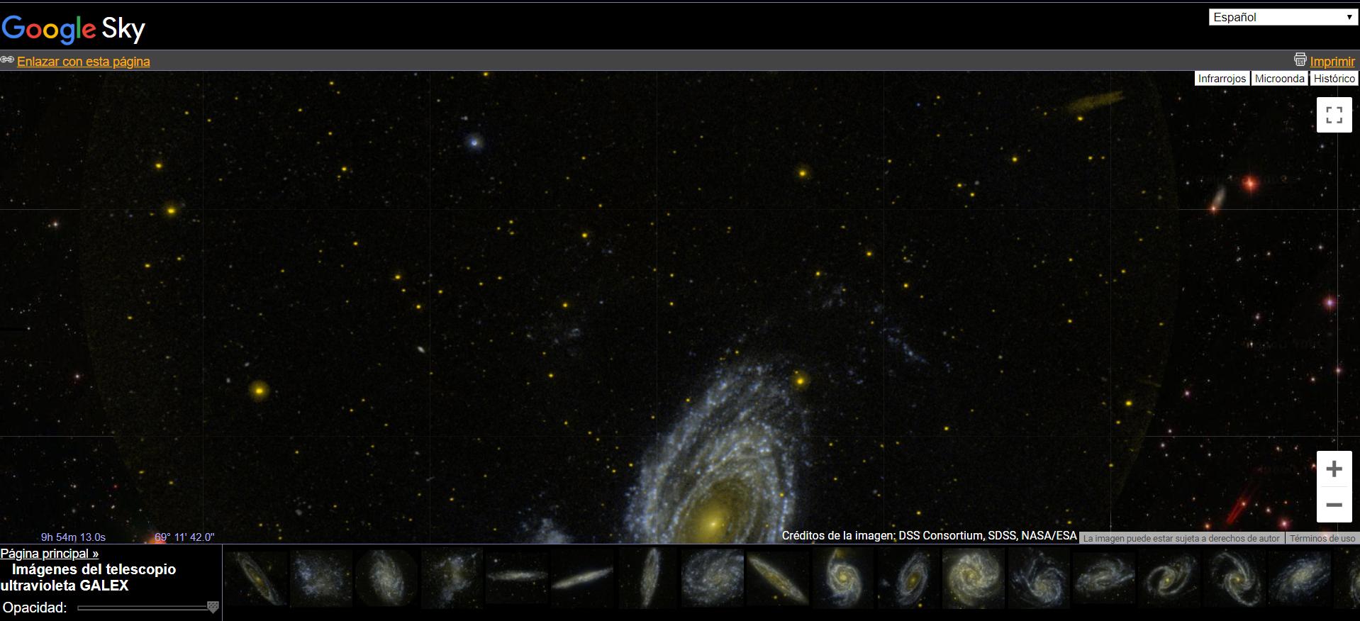 Google Sky - Programas de astronomía
