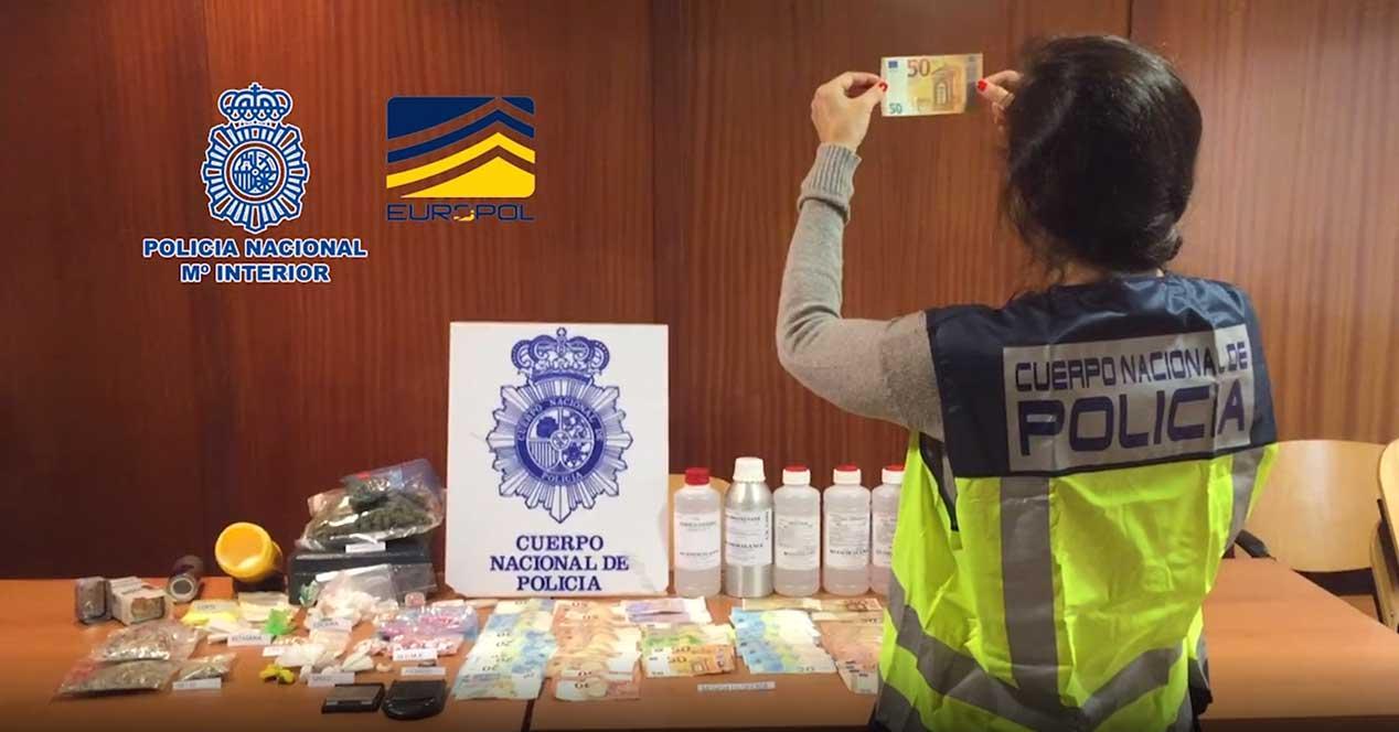 billetes falsos policia