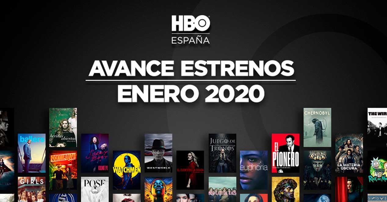 hbo estrenos enero 2020