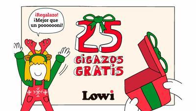 ¡Más gigas gratis! Lowi regala 25GB esta Navidad