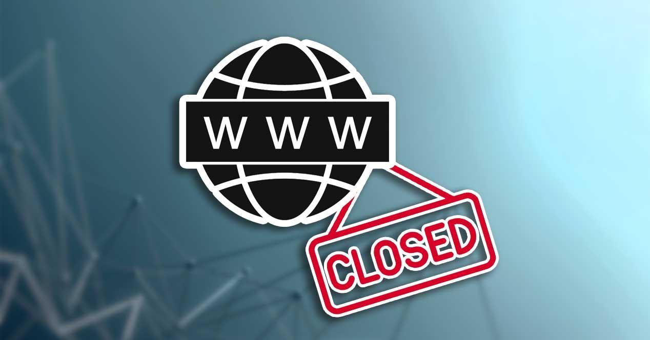web cierre