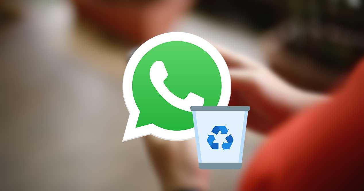 whatsapp papelera borrar fotos videos