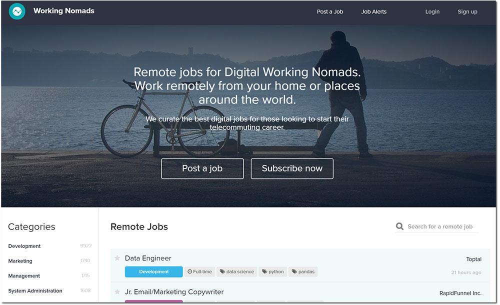 working nomad web freelances