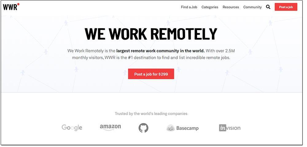 weworkremotely web freelances