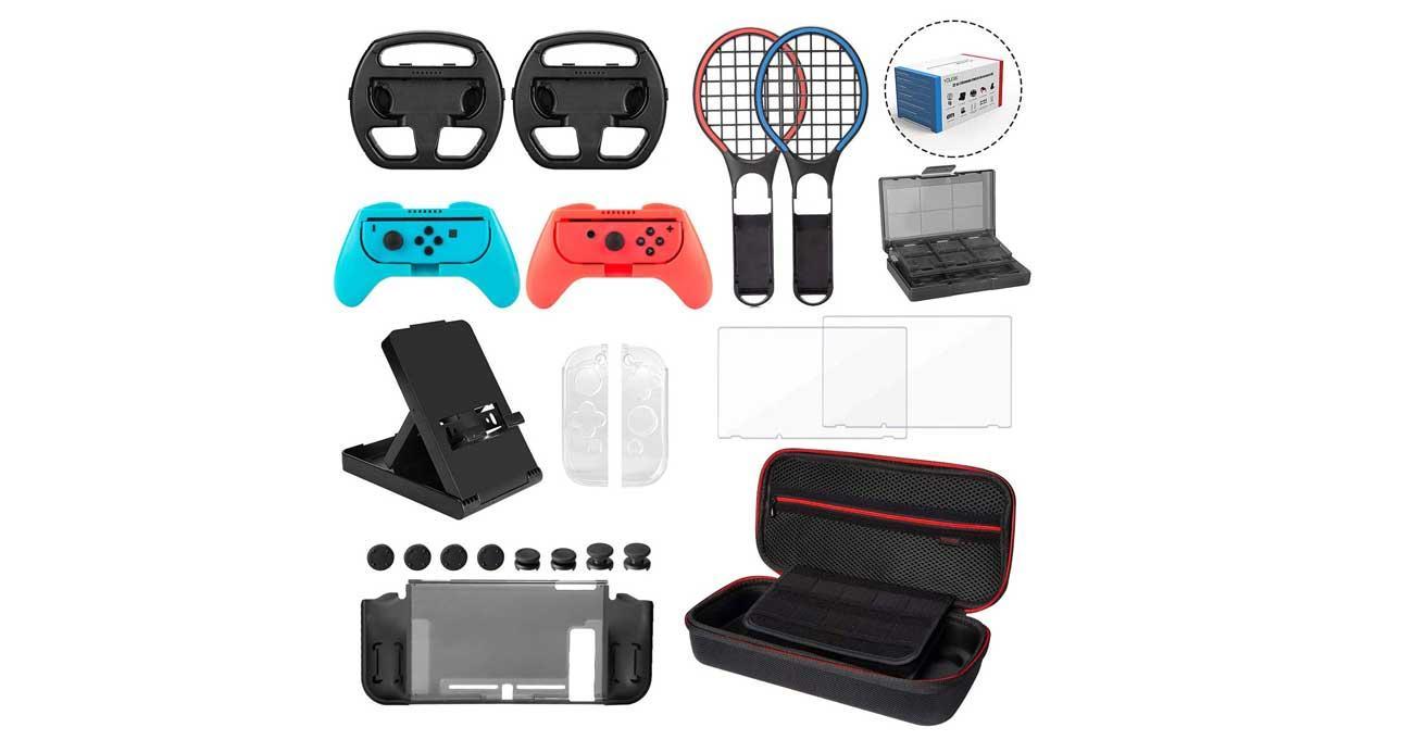 22 accesorios en 1 para Nintendo Switch
