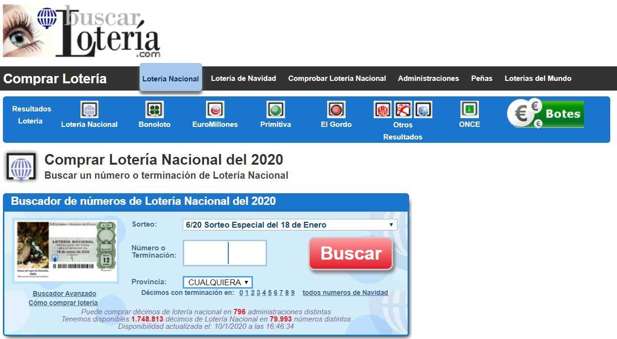 Comprobar cuponazo ONCE - Buscar Lotería