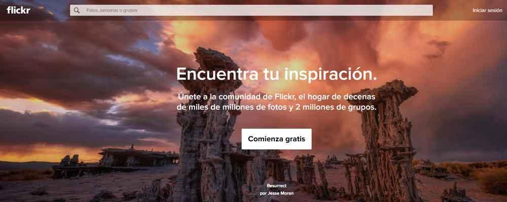 Descargar fotos gratis en Flickr