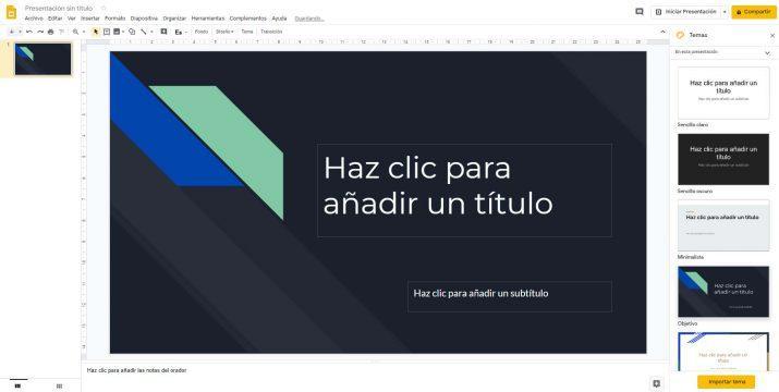 Google Slides - crear presentaciones
