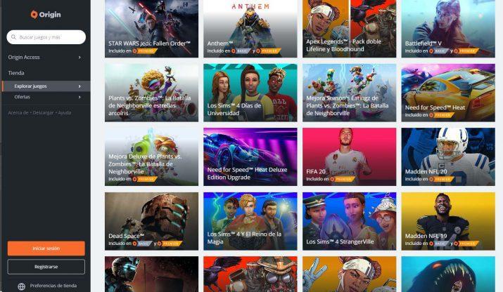 Origin juegos para PC
