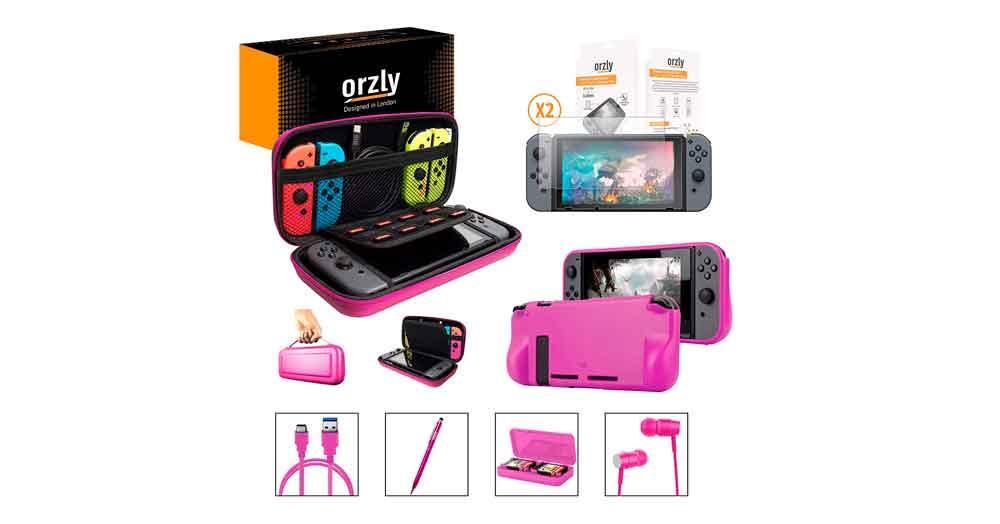 Pack rosa de accesorios para Nintendo Switch