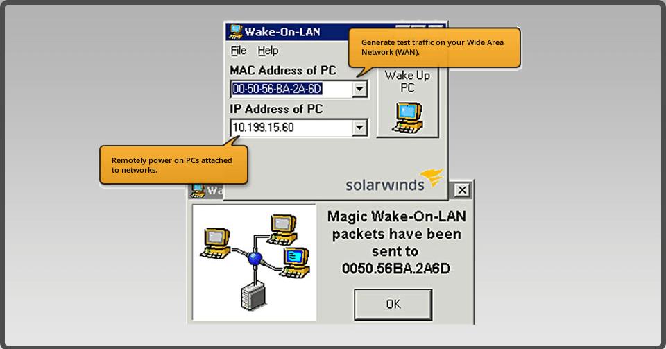 Solarwinds Wake on LAN