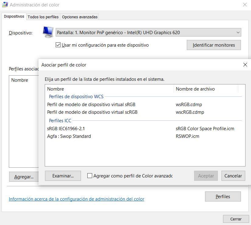 Perfil de Color Windows 10