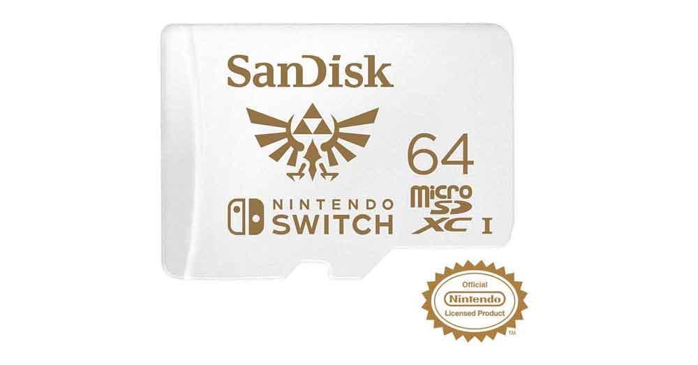 MicroSD 64 GB - Mejores accesorios para Nintendo Switch