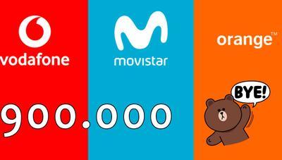 Movistar, Orange y Vodafone pierden casi 900.000 clientes de móvil en un año