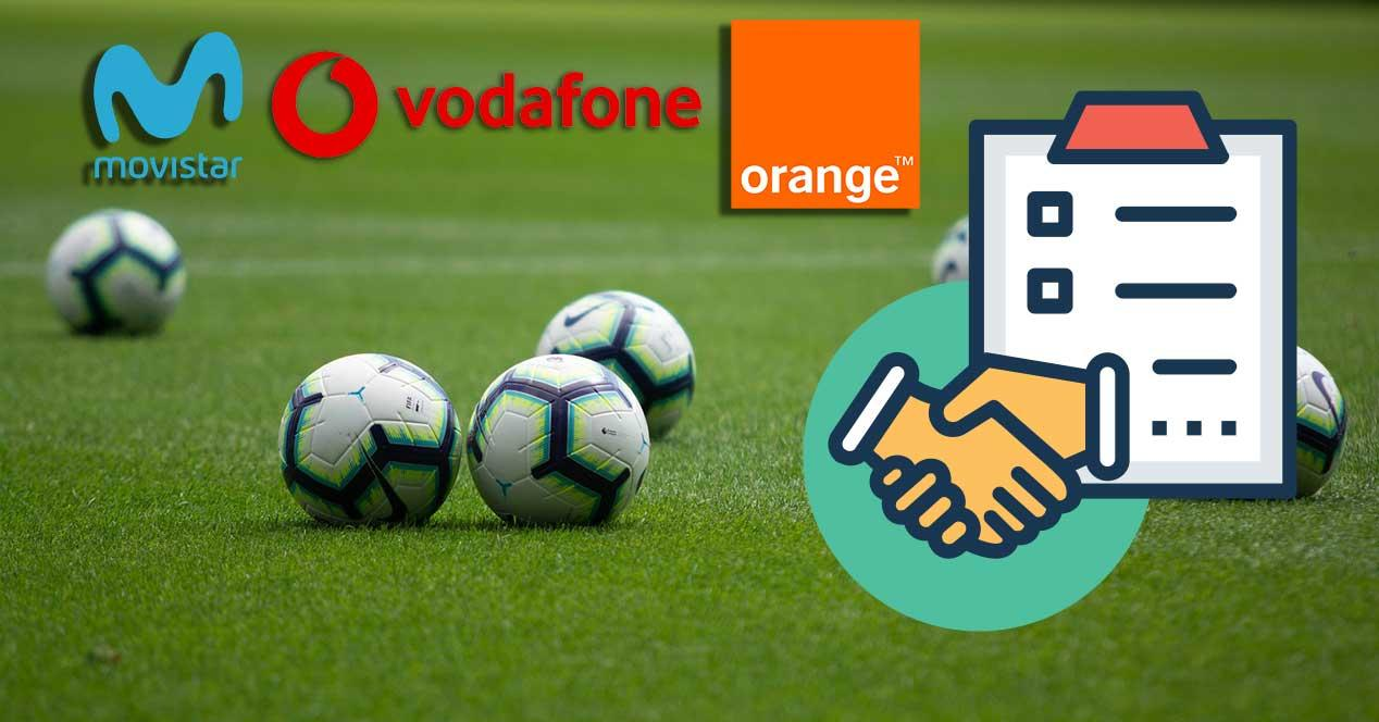 movistar telefonica vodafone orange futbol acuerdo