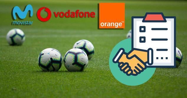 movistar telefonica vodafone orange futbol acuerdo