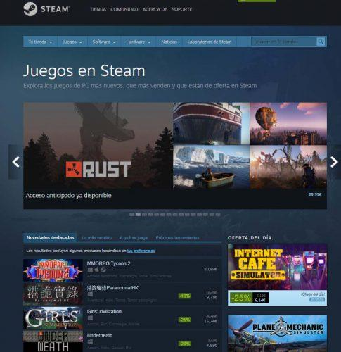 Juegos para PC Steam