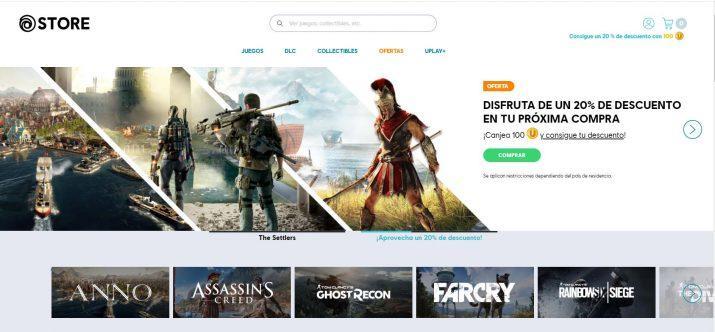 Tienda de juegos para PC uPlay
