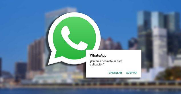 whatsapp onu desinstalar