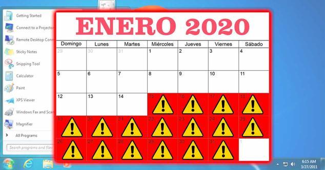 windows 7 14 enero 2020