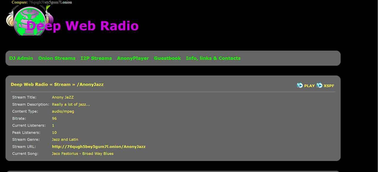 Deepradio en la Deep Web