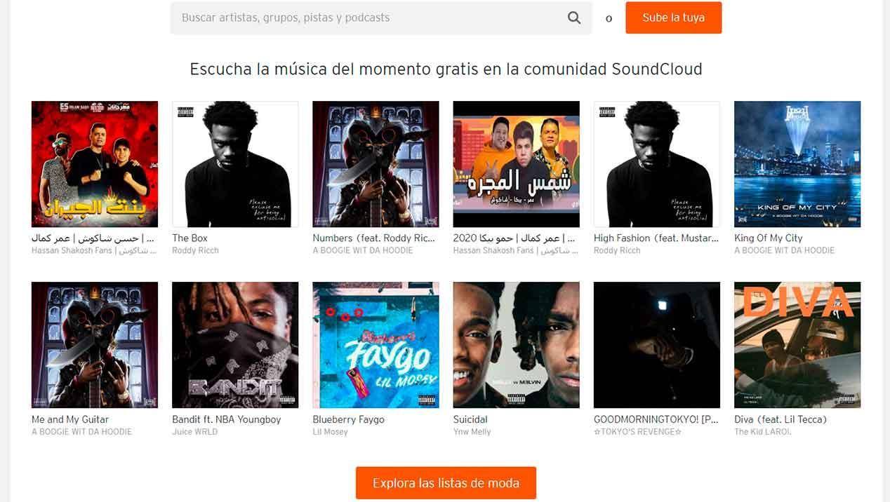 Alternatives to Spotify on Soundcloud