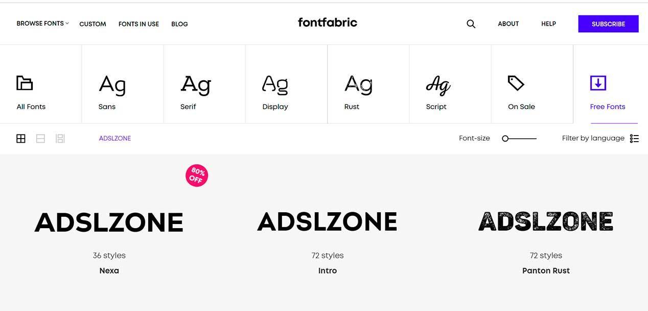 Webs para descargar fuentes gratis - Tipografías y letras populares