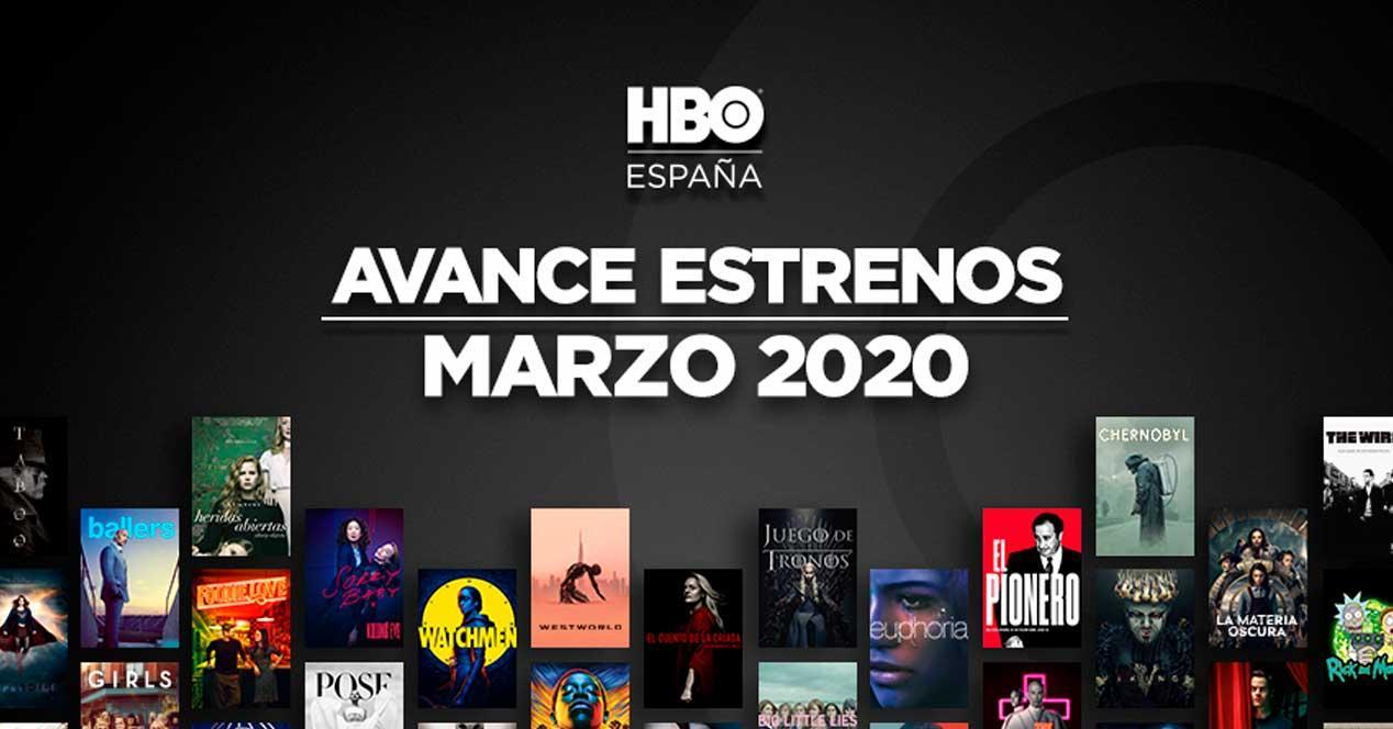 estrenos hbo marzo 2020