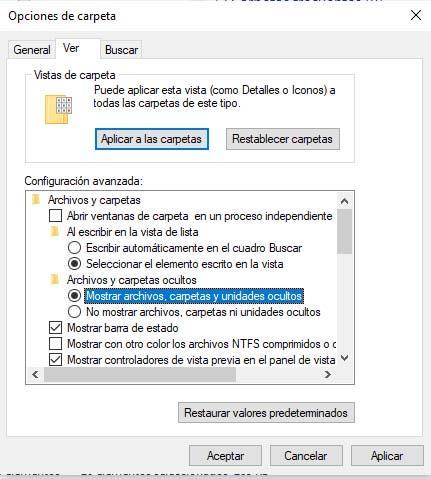 archivos perdidos Windows 10