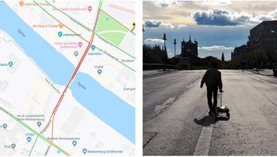 Engañar a Google Maps es tan fácil como llevar 99 móviles en un carrito