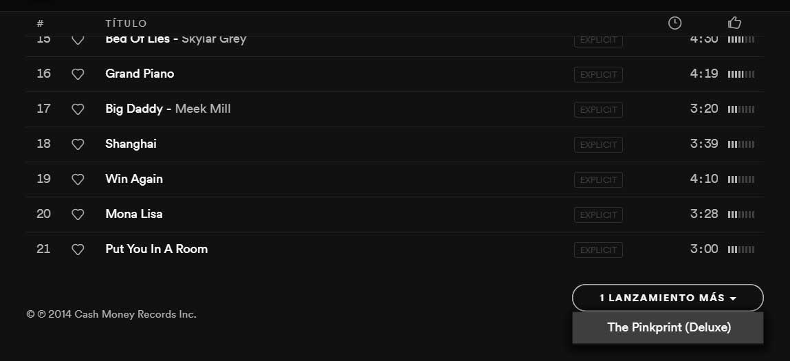 Contenido alternativo en Spotify