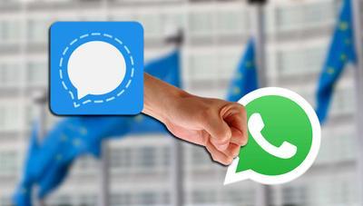 ¿Prohíbe la UE usar WhatsApp? Por el momento recomienda Signal en su lugar