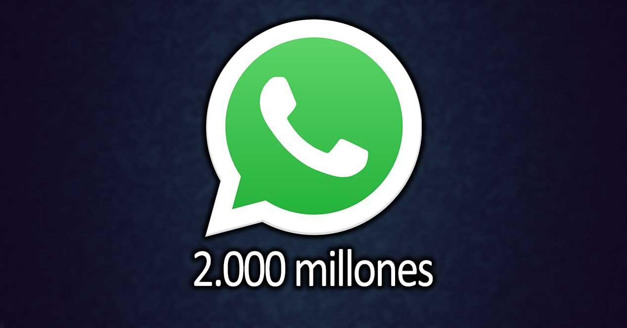 whatsapp 2000 millones usuarios