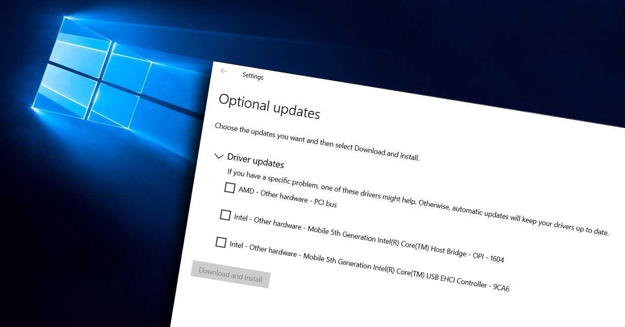 windows 10 actualizaciones opcionales