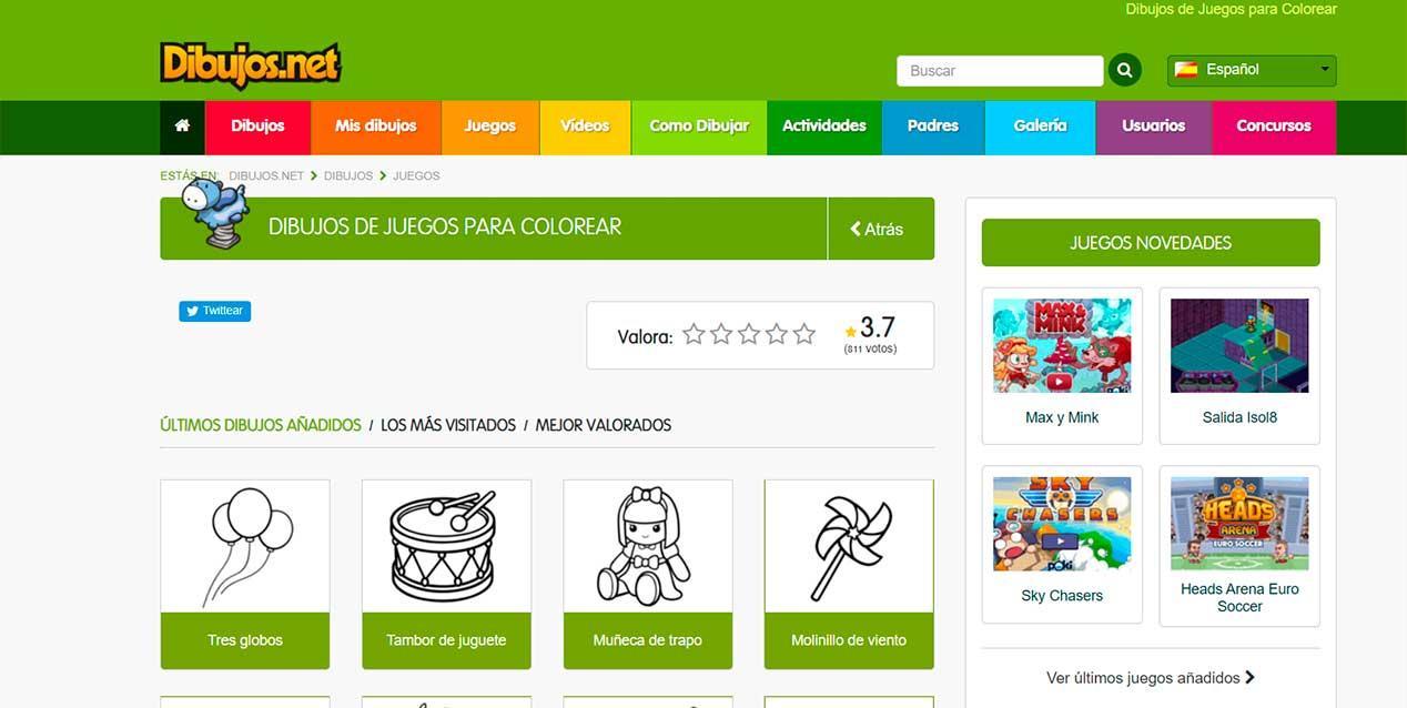 Webs Para Pintar Online Para Ninos Dibujos Para Colorear O Imprimir