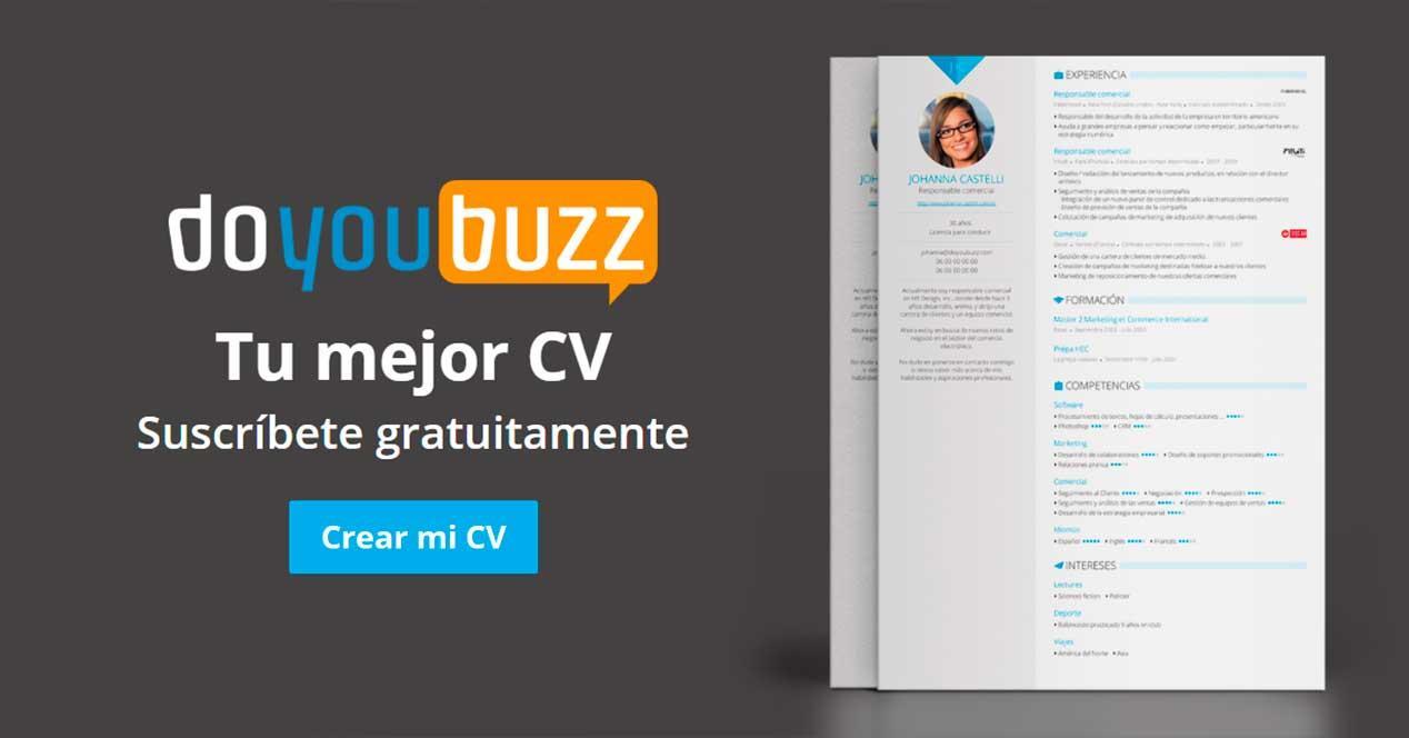 DoYouBuzz - Webs para crear un curriculum