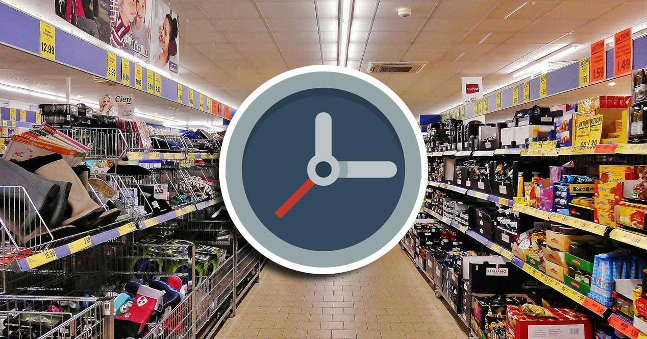 supermercado tiempo espera