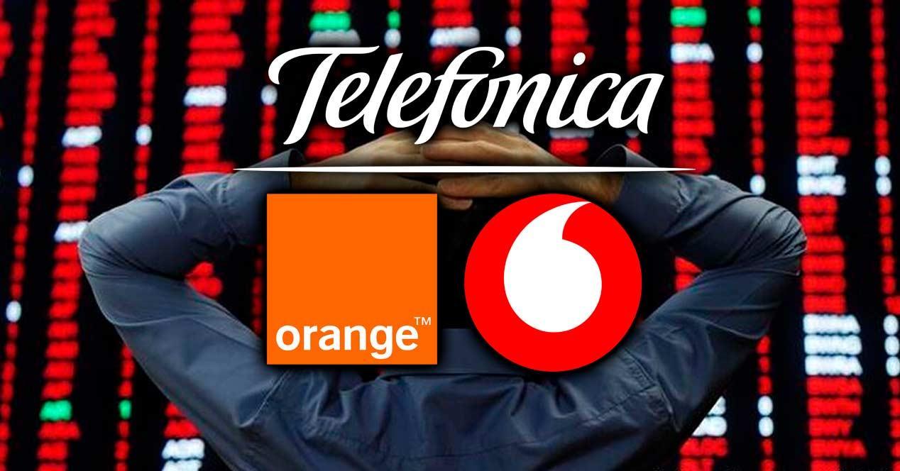 telefonica orange vodafone bolsa