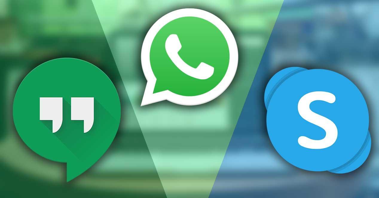 whatsapp skype hangouts