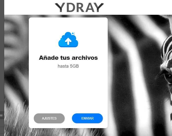 enviar archivos grandes Ydray