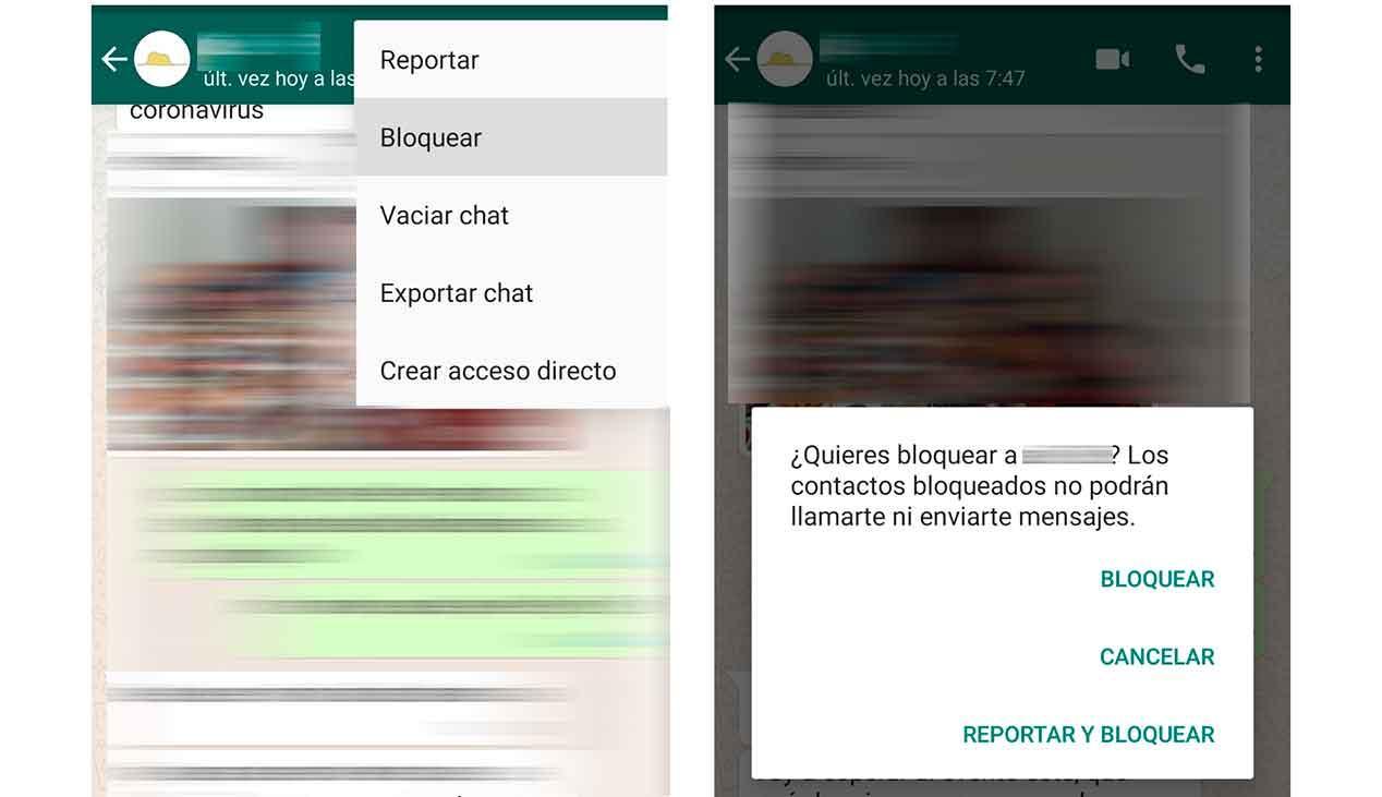 Blockierte kontakte whatsapp Blockiere nervige