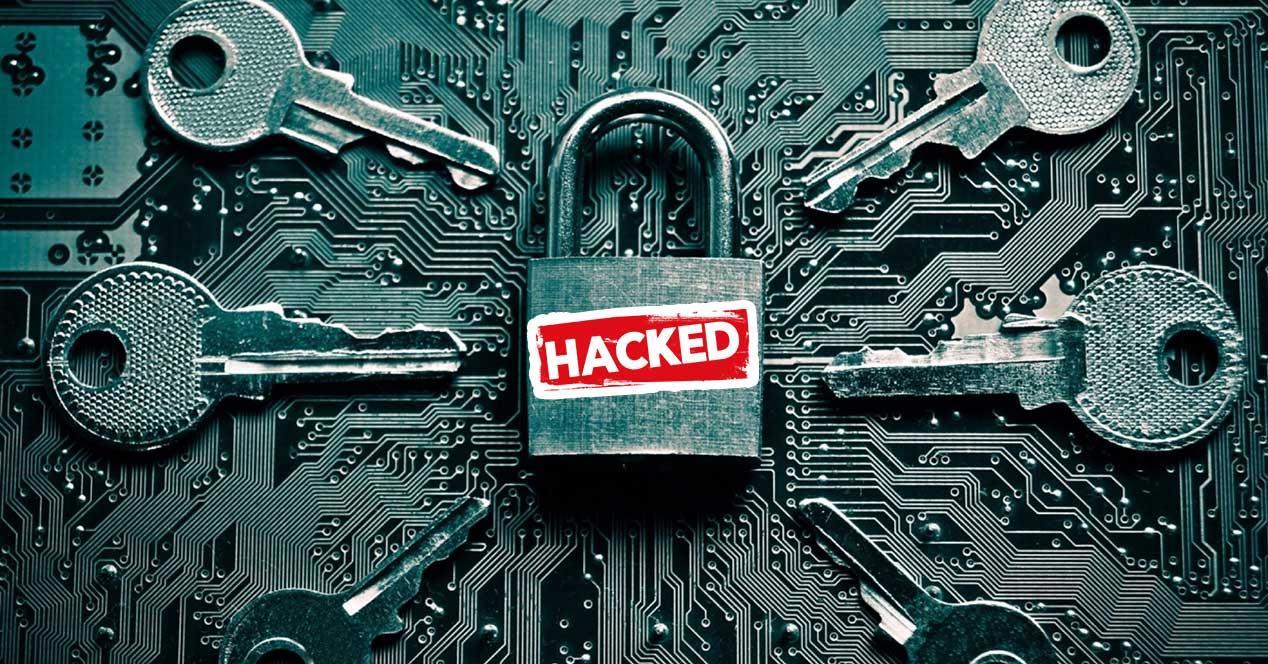 contraseña hackeada