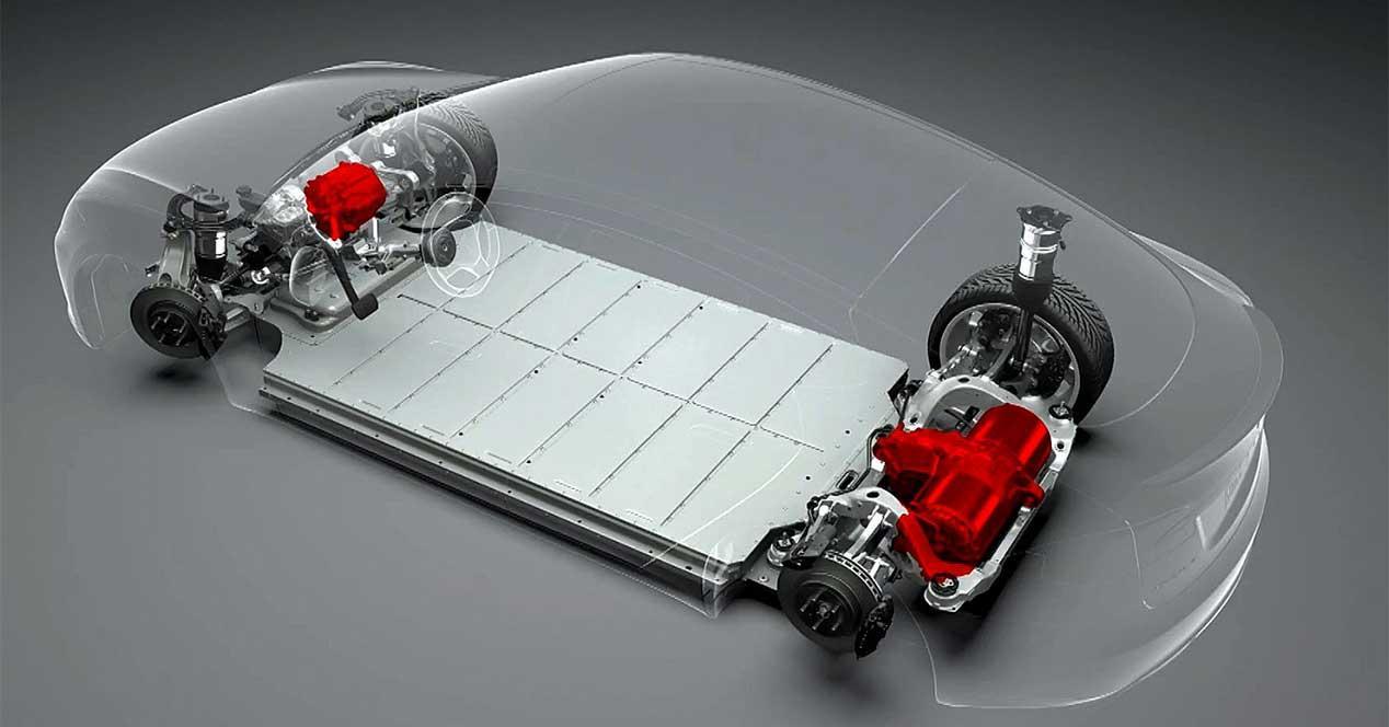 tesla batería coche