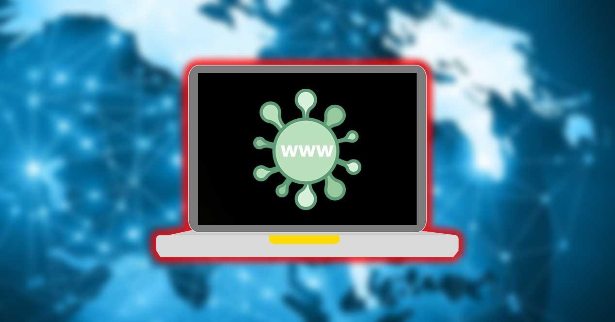 web coronavirus bloqueo