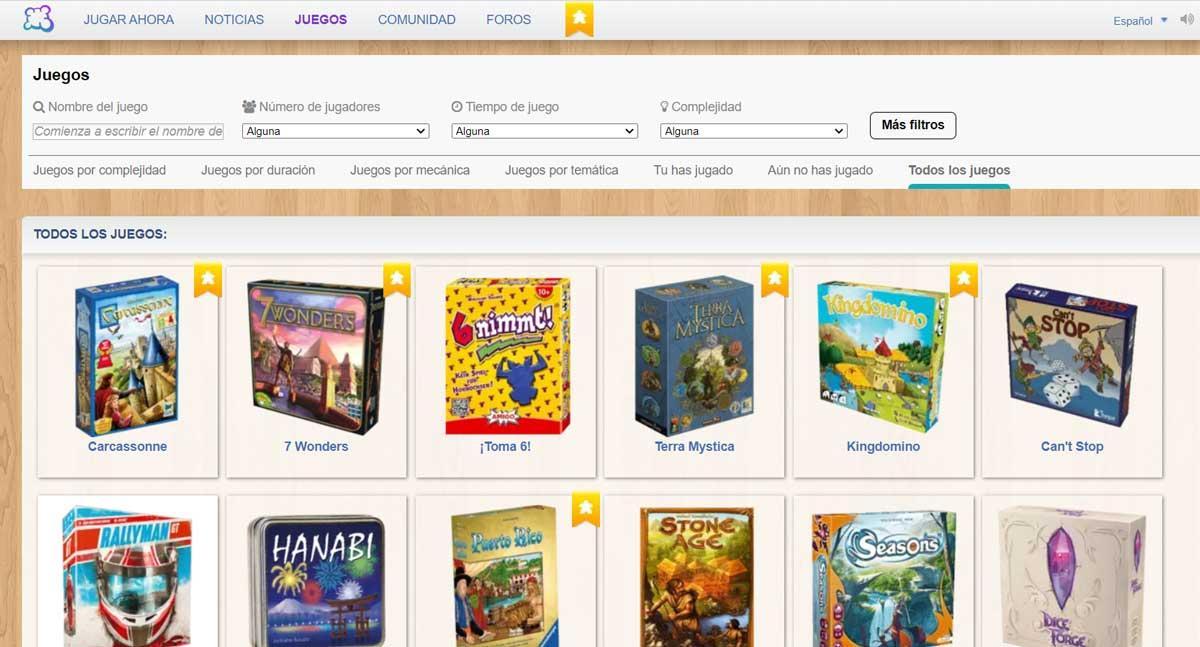 Boardgamearena - Webs para juegos multijugador