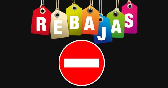 rebajas prohibidas mayo 2020