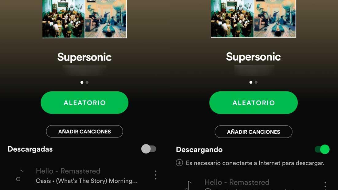Descargar musica en Spotify