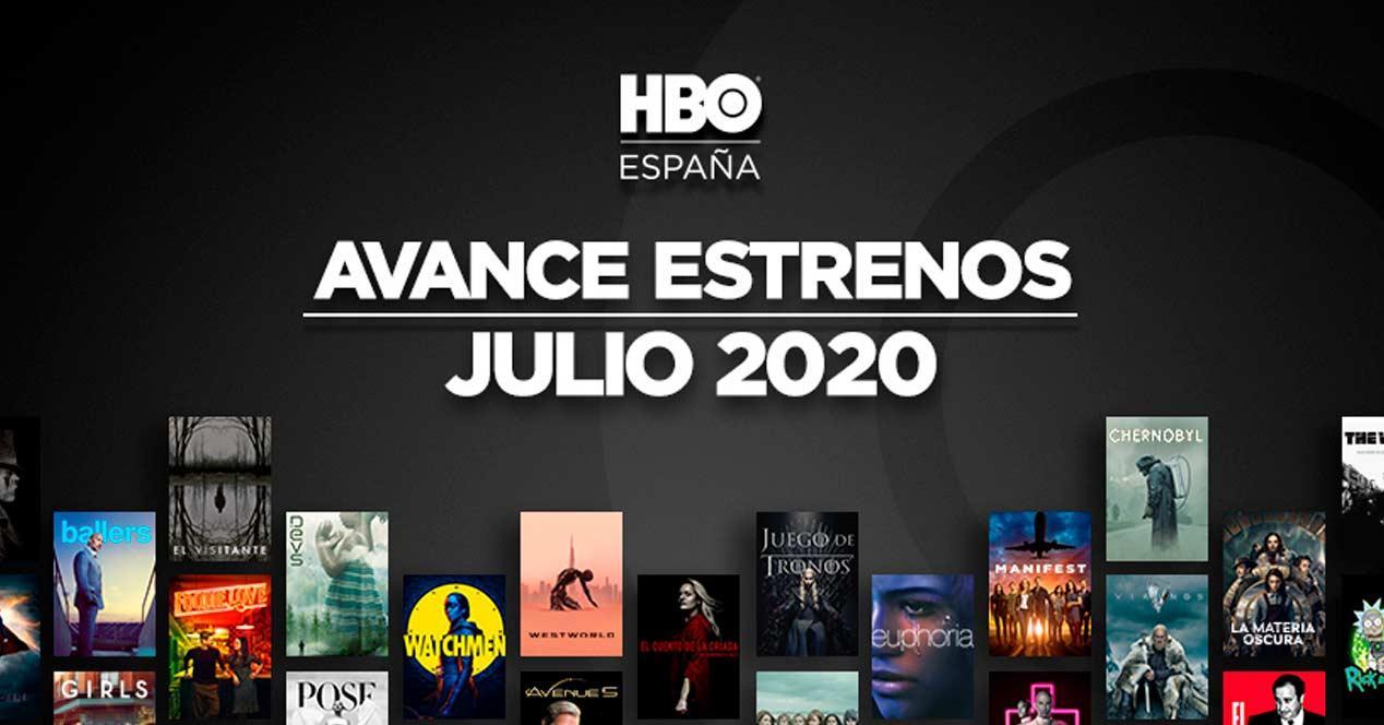 estrenos julio hbo 2020