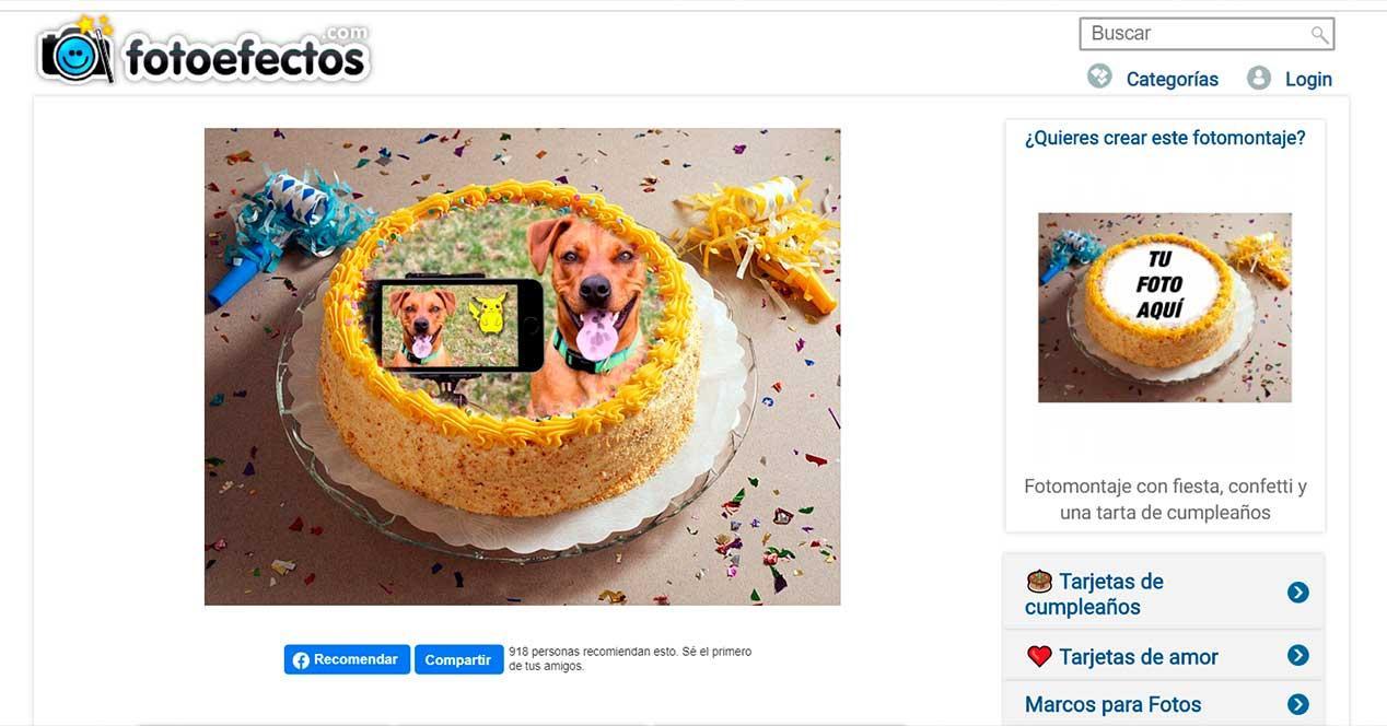 fotoefectos - felicitaciones de cumpleaños para WhatsApp