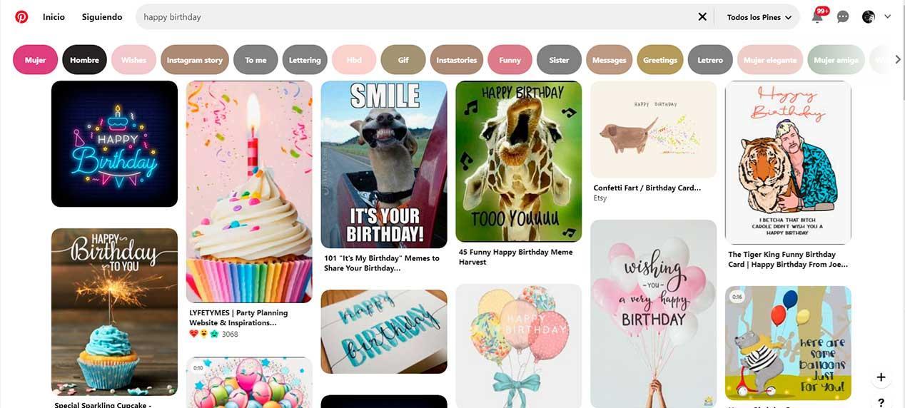Pinterest - felicitaciones de cumpleaños para WhatsApp